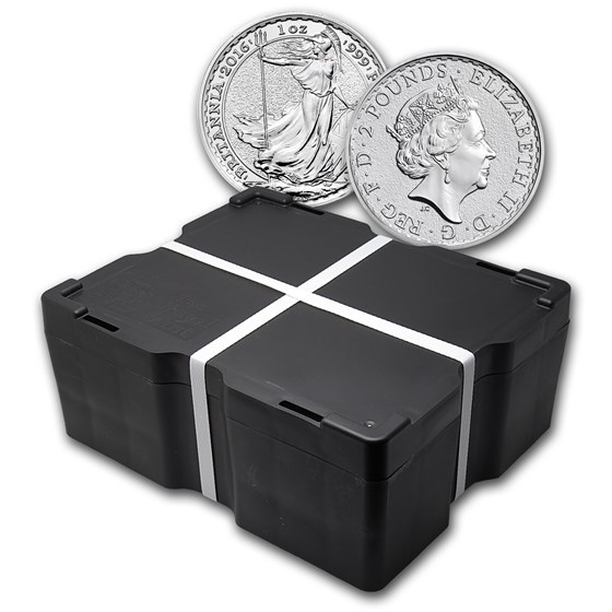 2016 500-Coin 1 oz Silver Britannia Monster Box BU