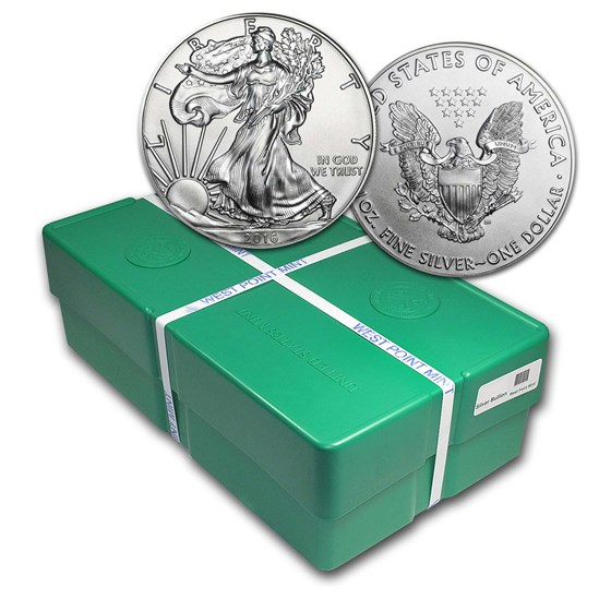 2016 500-Coin American Silver Eagle Monster Box (Sealed)