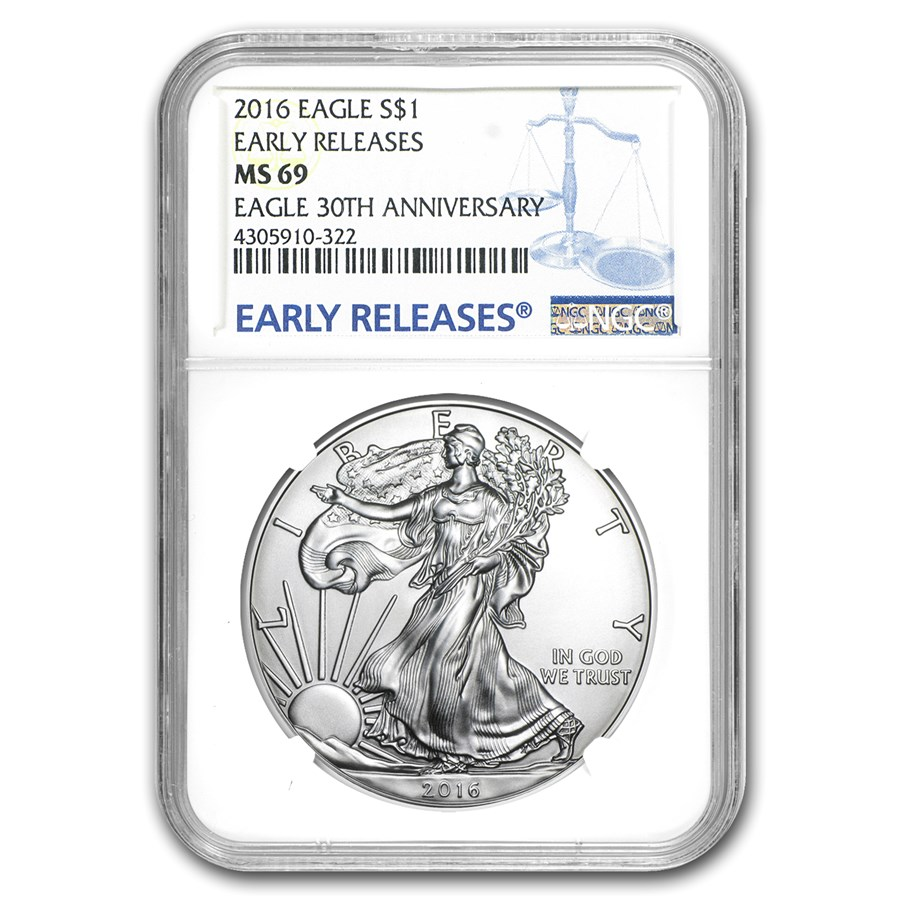 2016 American Silver Eagle MS-69 NGC (Early Releases)