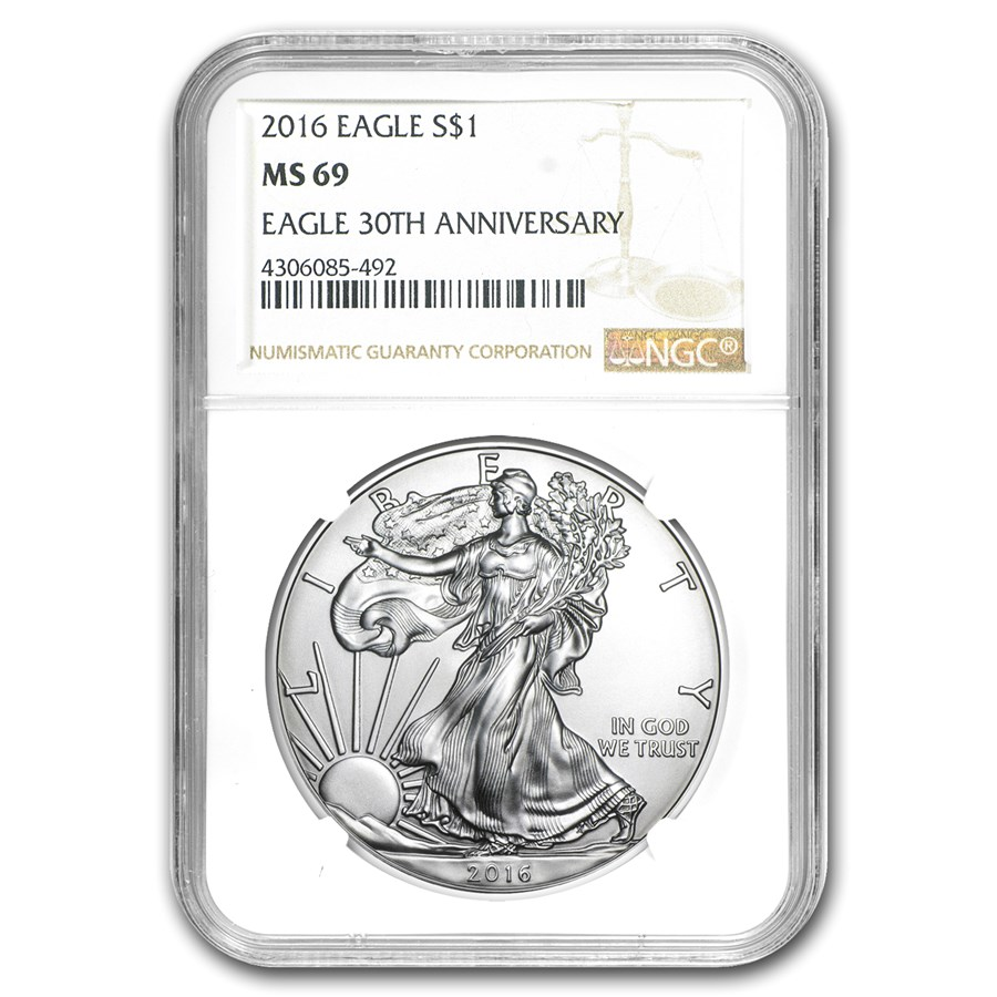 2016 American Silver Eagle MS-69 NGC