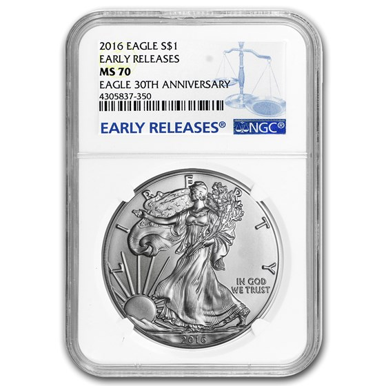2016 American Silver Eagle MS-70 NGC (Early Releases)