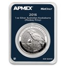 2016 AUS 1 oz Silver Kookaburra Monkey Privy (MintDirect® Single)