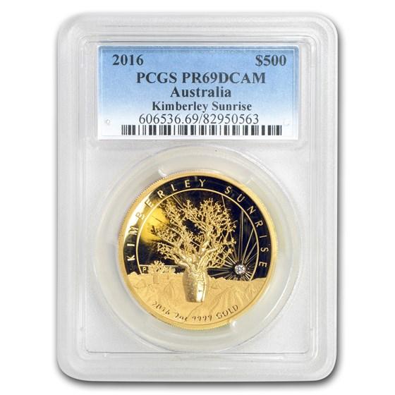 2016 AUS 2 oz Gold Kimberley Sunrise Diamond PR-69 PCGS DCAM