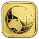 2016 Australia 1/10 oz Gold Square Map BU