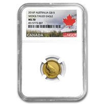 2016 Australia 1/10 oz Gold Wedge Tailed Eagle MS-70 NGC