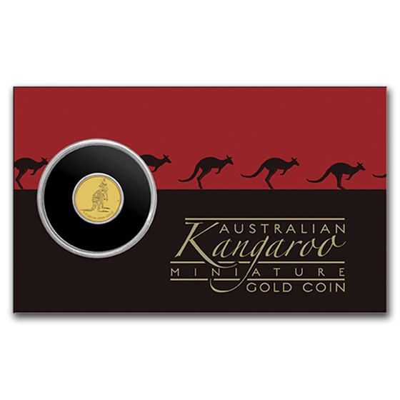 2016 Australia 1/2 Gram Gold Kangaroo Mini Roo BU (Assay Card)