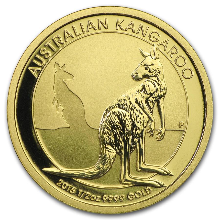 2016 Australia 1/2 oz Gold Kangaroo BU