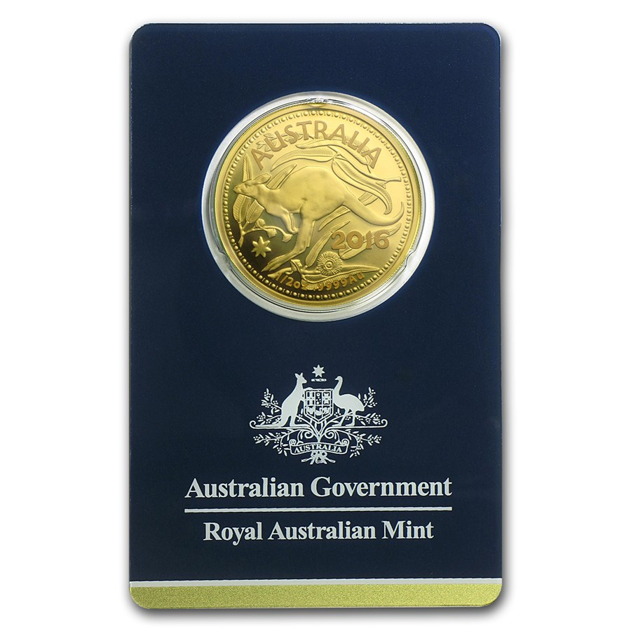 2016 Australia 1/2 oz Gold RAM Kangaroo (In Assay)