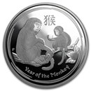 2016 Australia 1/2 oz Silver Lunar Monkey Proof (w/Box & COA)