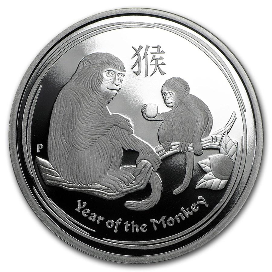 2016 Australia 1/2 oz Silver Lunar Monkey Proof (w/Box & COA)