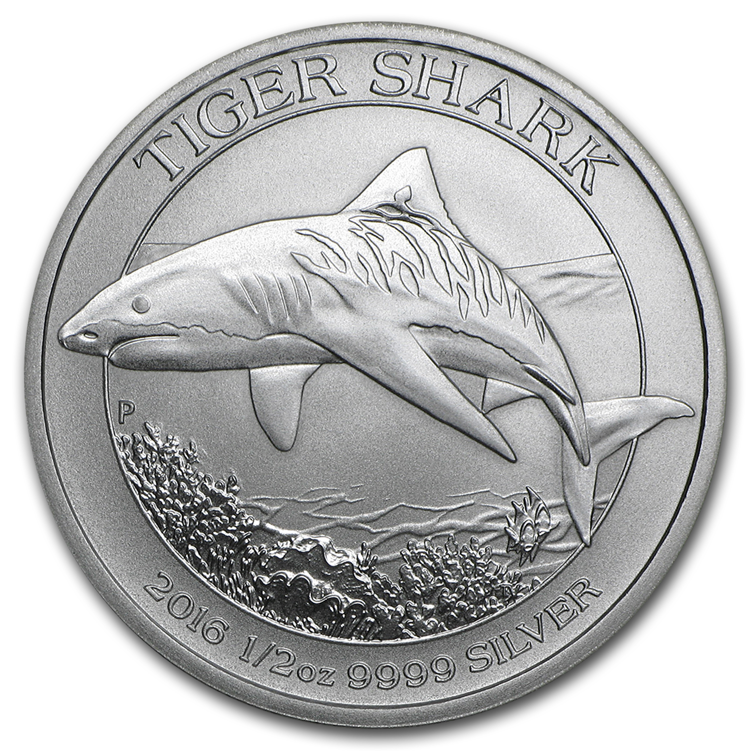Great White Shark Australian 1//2 Oz Troy .999 Fine Silver Round Collectible Coin
