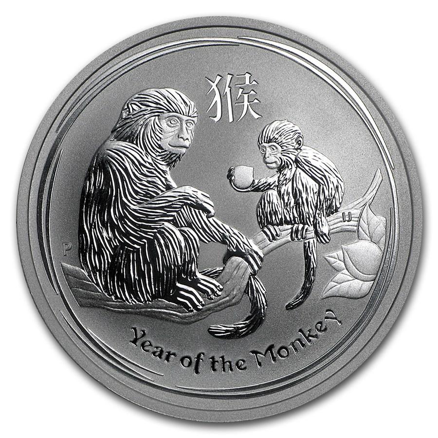 2016 Australia 1/2 oz Silver Year of the Monkey BU (Series II)