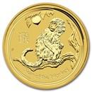 2016 Australia 1/20 oz Gold Lunar Monkey BU