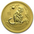 2016 Australia 1/4 oz Gold Lunar Monkey BU