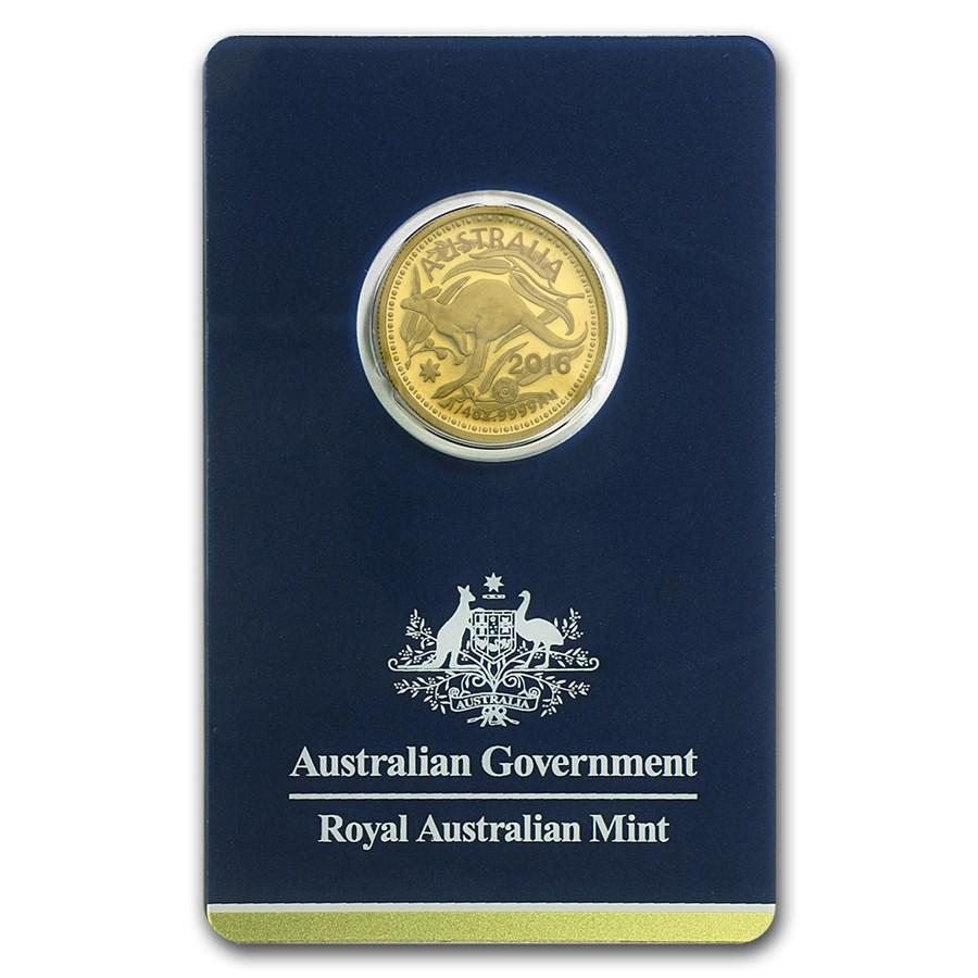 2016 Australia 1/4 oz Gold RAM Kangaroo (In Assay)