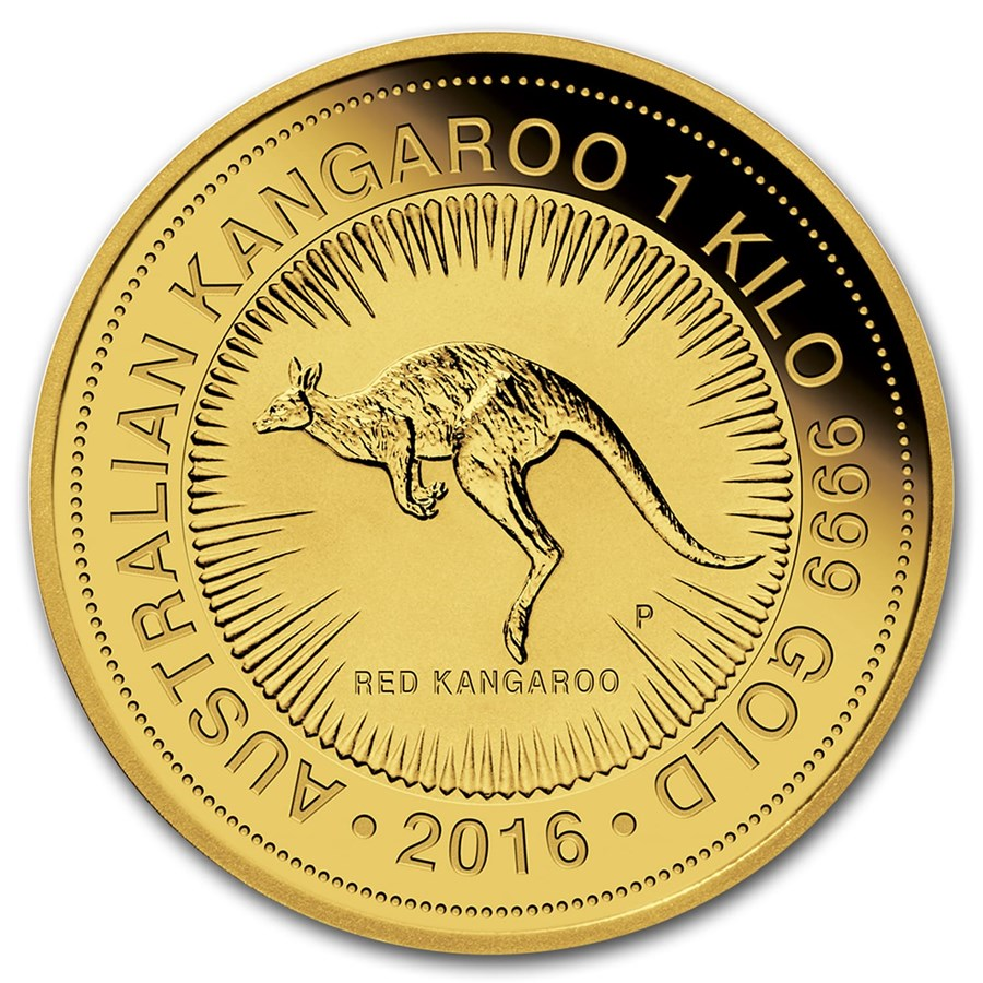 2016 Australia 1 kilo Gold Kangaroo BU