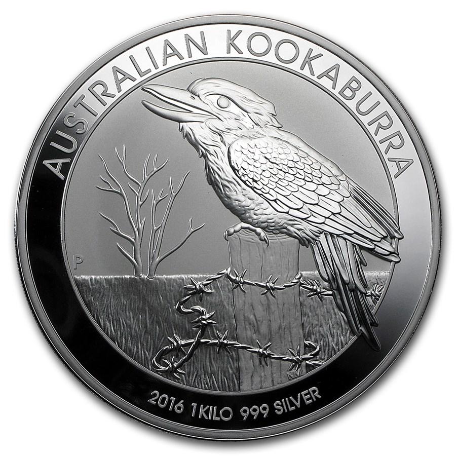 2016 Australia 1 kilo Silver Kookaburra BU