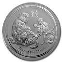 2016 Australia 1 kilo Silver Lunar Monkey BU