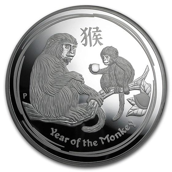 2016 Australia 1 kilo Silver Lunar Monkey Proof (w/Box & COA)