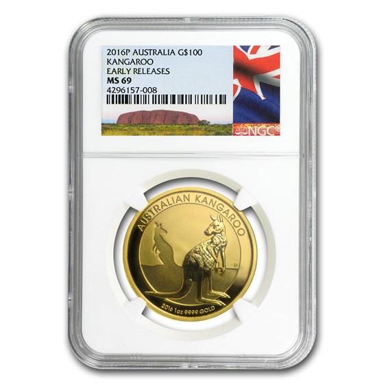 2016 Australia 1 oz Gold Kangaroo MS-69 NGC (Early Release)