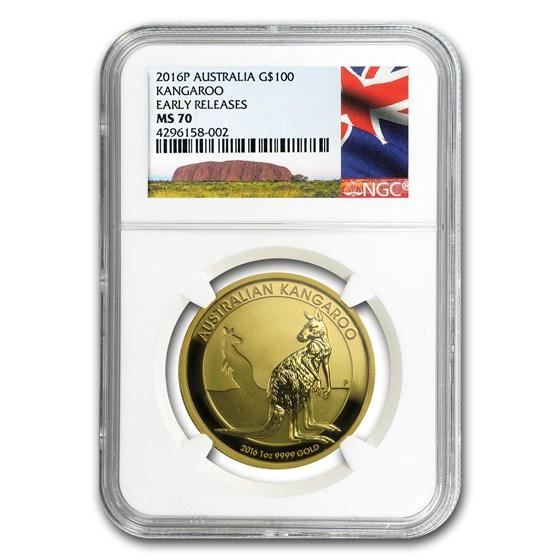 2016 Australia 1 oz Gold Kangaroo MS-70 NGC (Early Release)