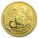 2016 Australia 1 oz Gold Lunar Monkey BU (Series II)