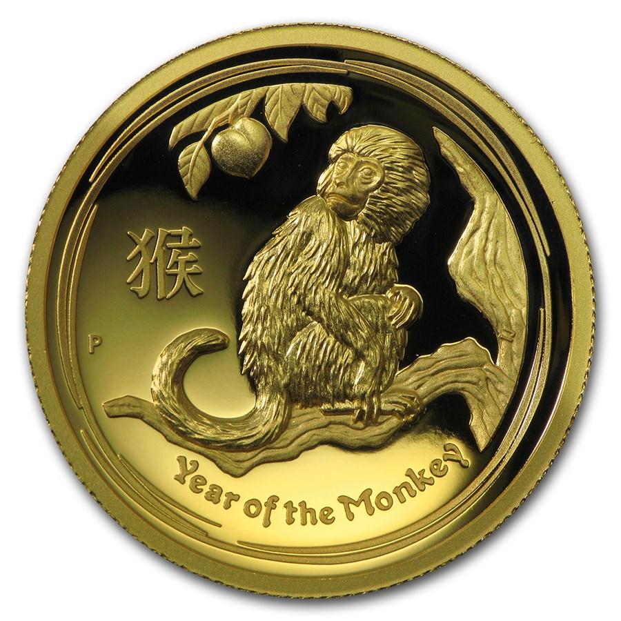 2016 Australia 1 oz Gold Lunar Monkey Proof (HR, Box & COA)
