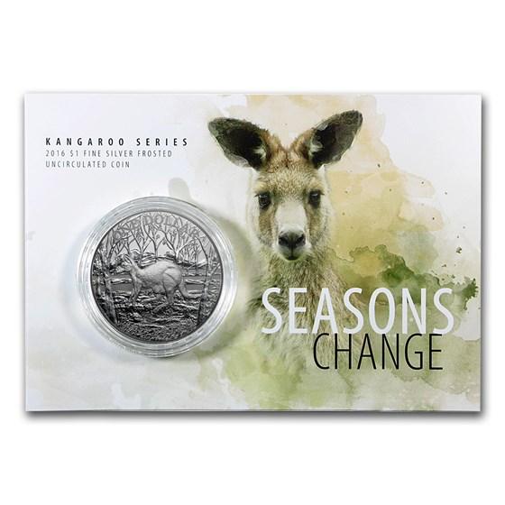 2016 Australia 1 oz Silver Kangaroo (Display Card)