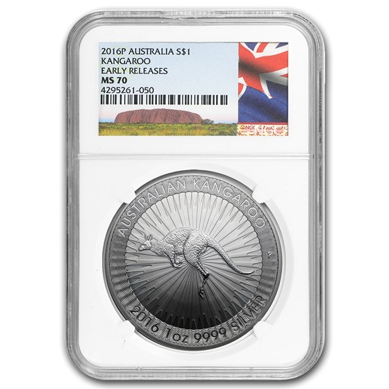 2016 Australia 1 oz Silver Kangaroo MS-70 NGC (Early Release)