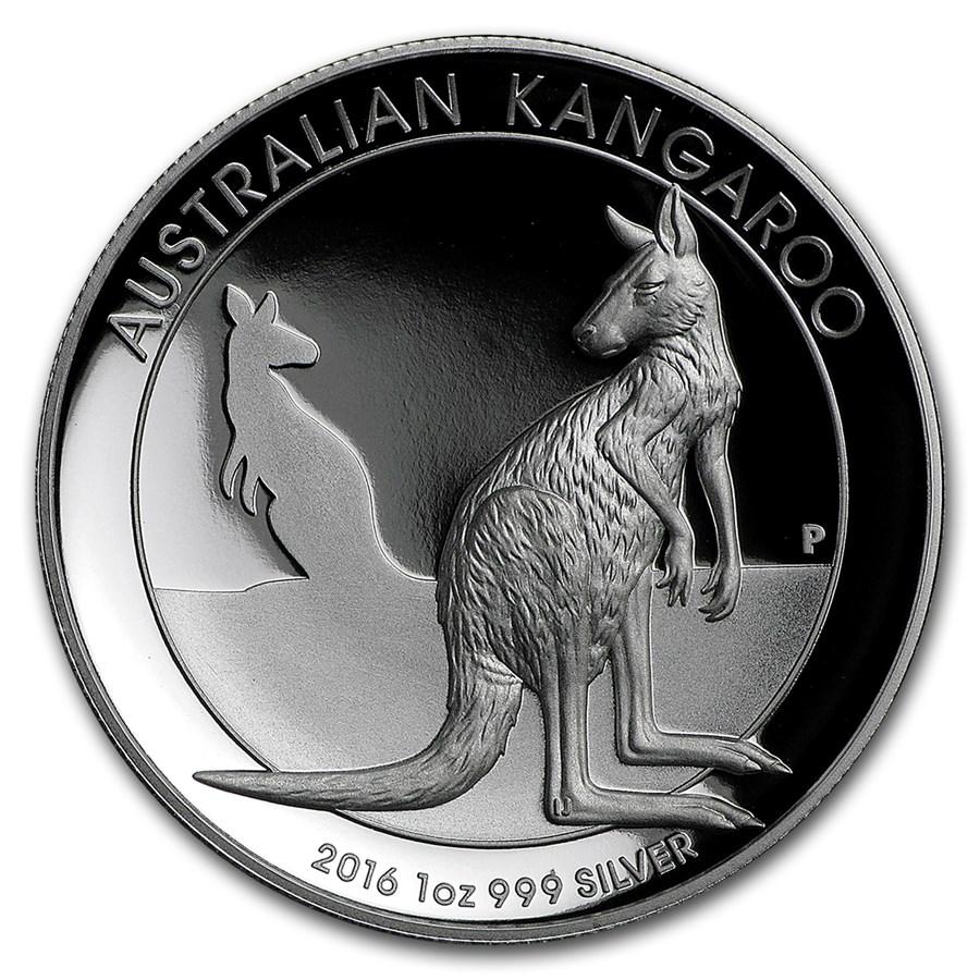 2016 Australia 1 oz Silver Kangaroo Proof (High Relief)