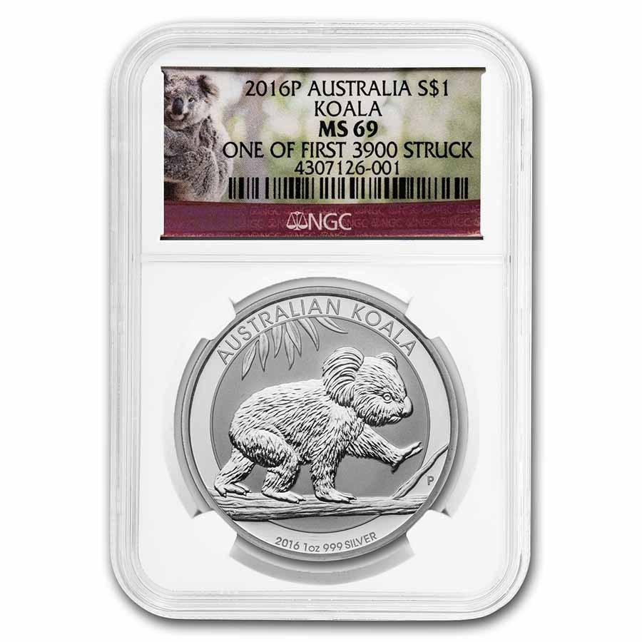 2016 Australia 1 oz Silver Koala MS-69 NGC
