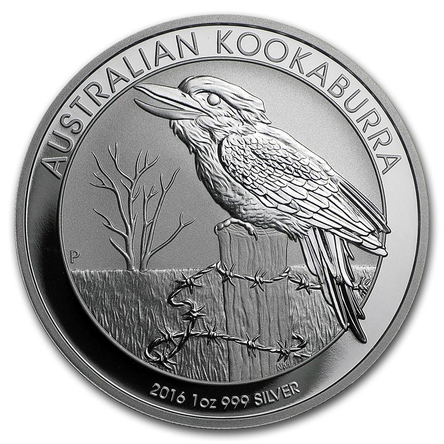 2016 Australia 1 oz Silver Kookaburra BU