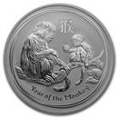 2016 Australia 1 oz Silver Lunar Monkey BU (Series II)