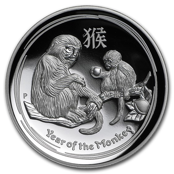 2016 Australia 1 oz Silver Lunar Monkey Proof (High Relief)