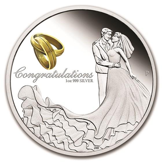 2016 Australia 1 oz Silver Wedding Proof