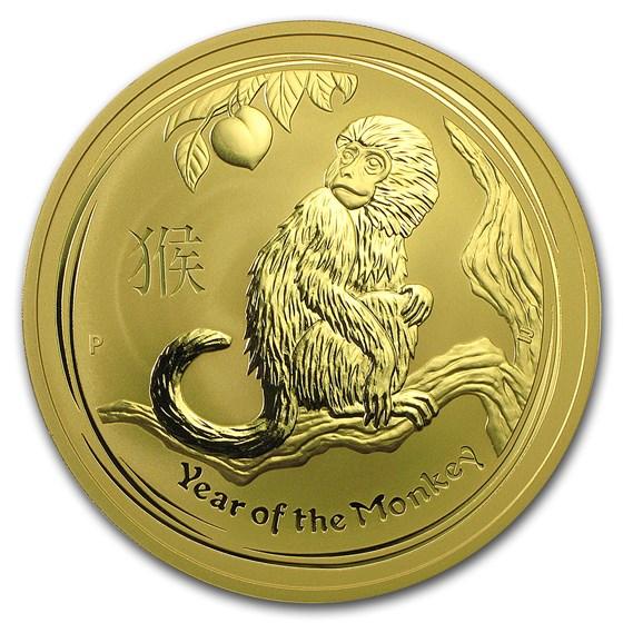 2016 Australia 10 oz Gold Lunar Monkey BU