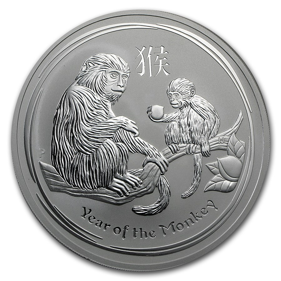 2016 Australia 10 oz Silver Lunar Monkey BU