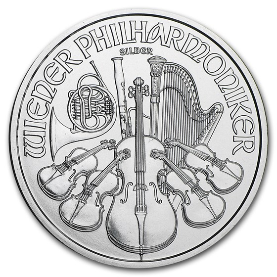 2016 Austria 1 oz Silver Philharmonic BU