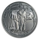 2016 Burkina Faso 1 oz Silver Spirit of Africa Elephant Series 5