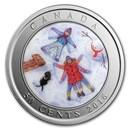 2016 Canada $0.50 Lenticular Snow Angels