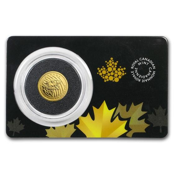 2016 Canada 1/10 oz Gold Growling Cougar .99999 BU (Assay Card)
