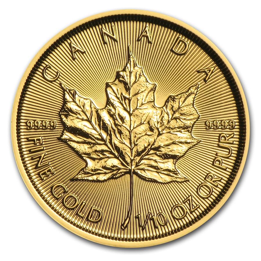 2016 Canada 1/10 oz Gold Maple Leaf BU