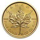 2016 Canada 1/2 oz Gold Maple Leaf BU