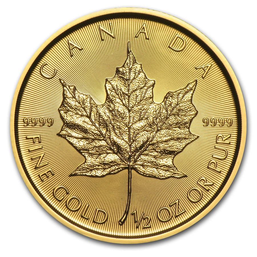 2016 Canada 1/2 oz Gold Maple Leaf BU