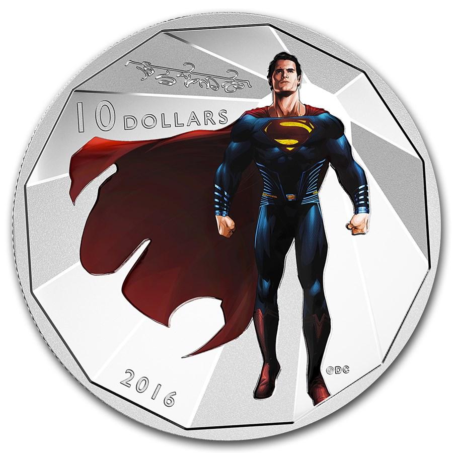2016 Canada 1/2 oz Silver $10 Batman v Superman: Superman