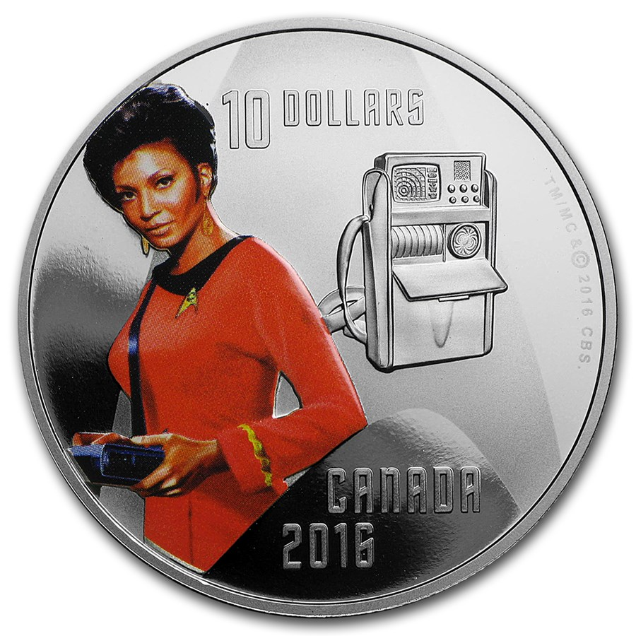 2016 Canada 1/2 oz Silver Proof $10 Star Trek Uhura
