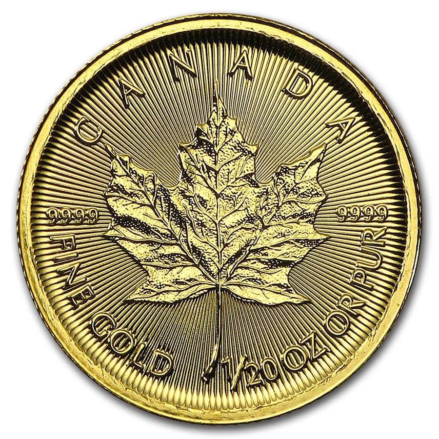 2016 Canada 1/20 oz Gold Maple Leaf BU