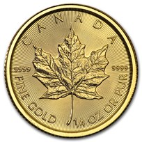 2016 Canada 1/4 oz Gold Maple Leaf BU
