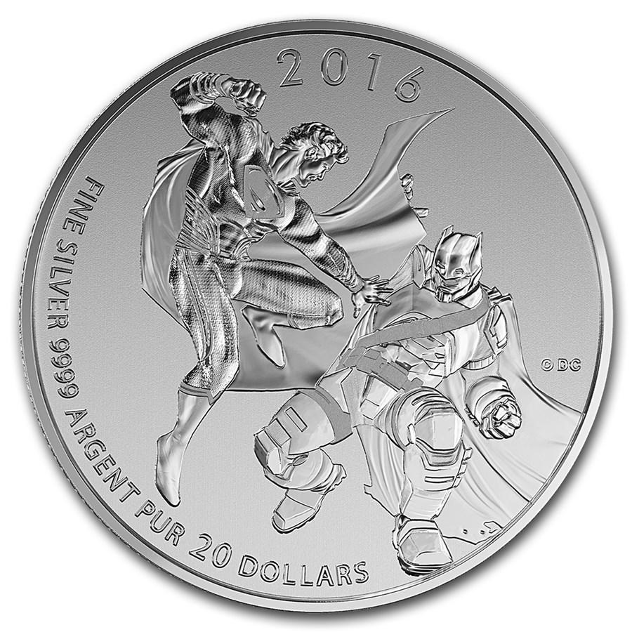 2016 Canada 1/4 oz Silver $20 Batman v Superman: Dawn of Justice
