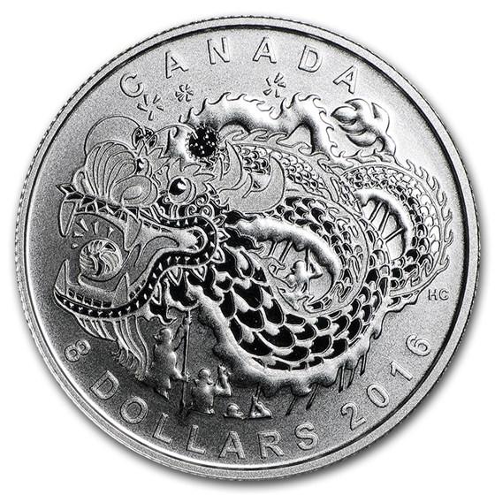 2016 Canada 1/4 oz Silver $8 Dragon Dance